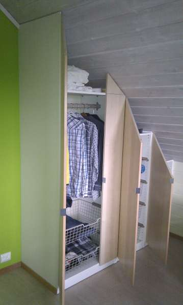 Garderobe skr tak ikea materialvalg for baderomsm bler for Garderobe ikea